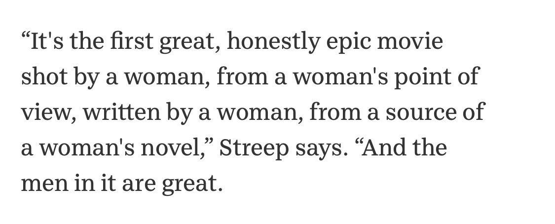 meryl streep gonna make me cry  talking about little women <br>http://pic.twitter.com/9zZfXaDIxp