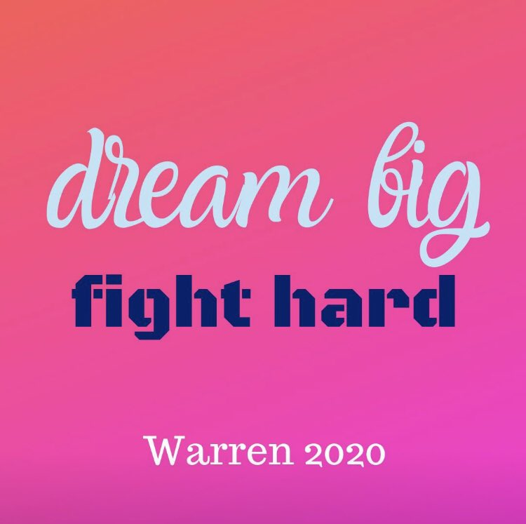 Saw @ewarren in Austin last night. I'm still all hopped up on inspiration. #dreambigfighthard #WarrenForPresident