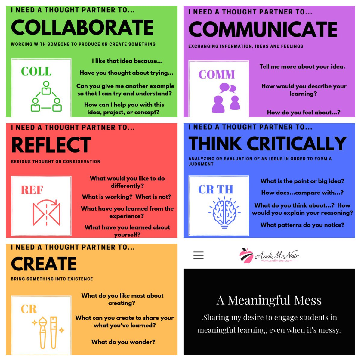4Cs + 1R (Reflection!) cards #GTPBL @HumbleISD_GTE twitter.com/mcnairan3/stat…