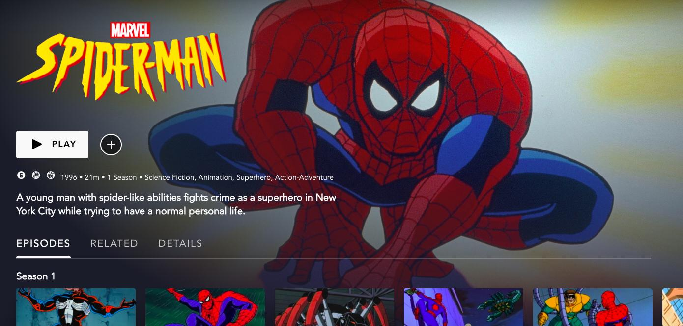 Disney Plus subirá las series animadas de los 90s, Spider-Man y los X-Men