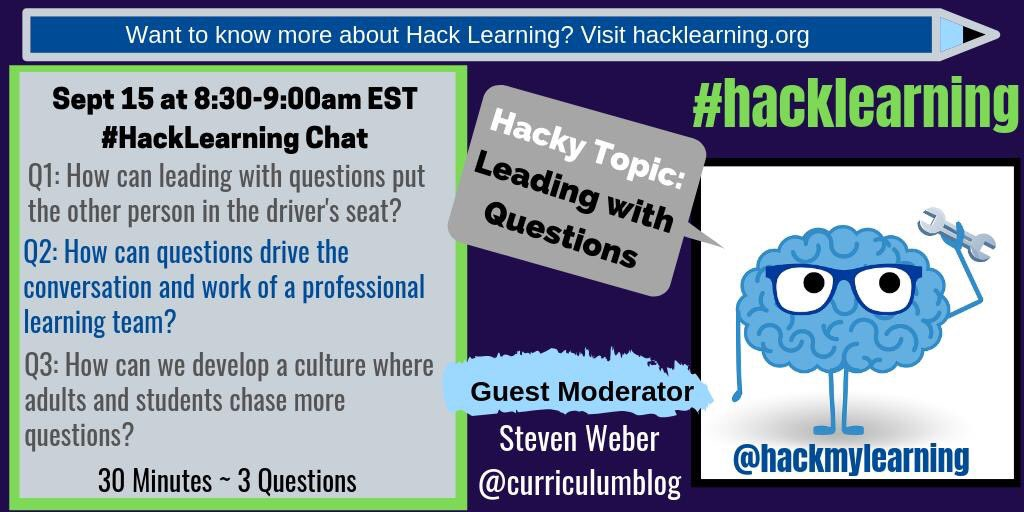 Join me on Sunday morning for #hacklearning 30 minute chat with educators! <br>http://pic.twitter.com/qUEnygYqI2