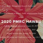 Image for the Tweet beginning: 2020 PMRC Hawai'i Call for