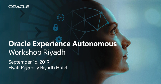 Be on the lookout for Oracle Experience Autonomous Workshop in Riyadh to learn how you can modernize #ApplicationDevelopment and #DataManagement for your organization. Register now:  http:// bit.ly/2ZS6PLK    <br>http://pic.twitter.com/KtLNQ8JDEE
