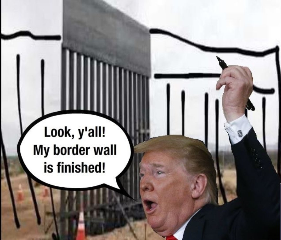 trump: What are we going to build? Idiots: A WALL?  trump: Who's going to pay for it? Idiots: MEXICO!!!  trump: Who's going to pay for it? Idiots: MEXICO!!!  trump: No, but really. Who? Idiots: Uh, not Mexico?  trump: You're getting closer. Idiots: we...are?