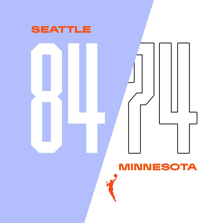 The @seattlestorm hold on for the first-round win at home! 👏  #WNBAPlayoffs