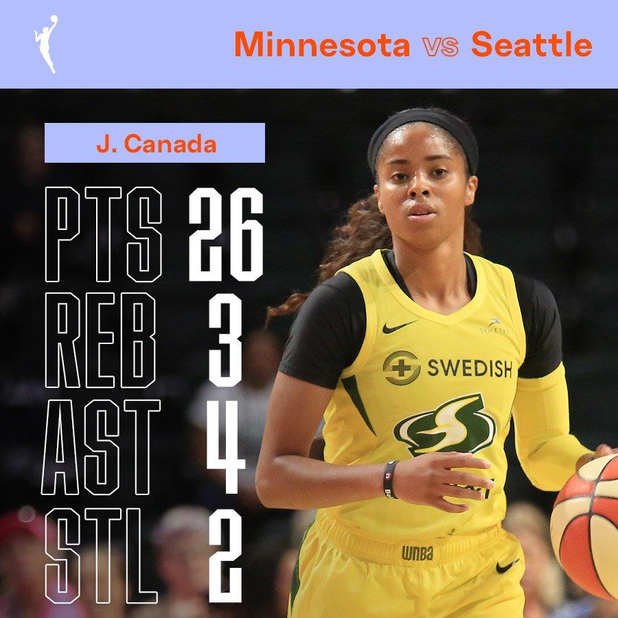 .@jordin_canada wasn't messing around tonight! 💪#WNBAPlayoffs