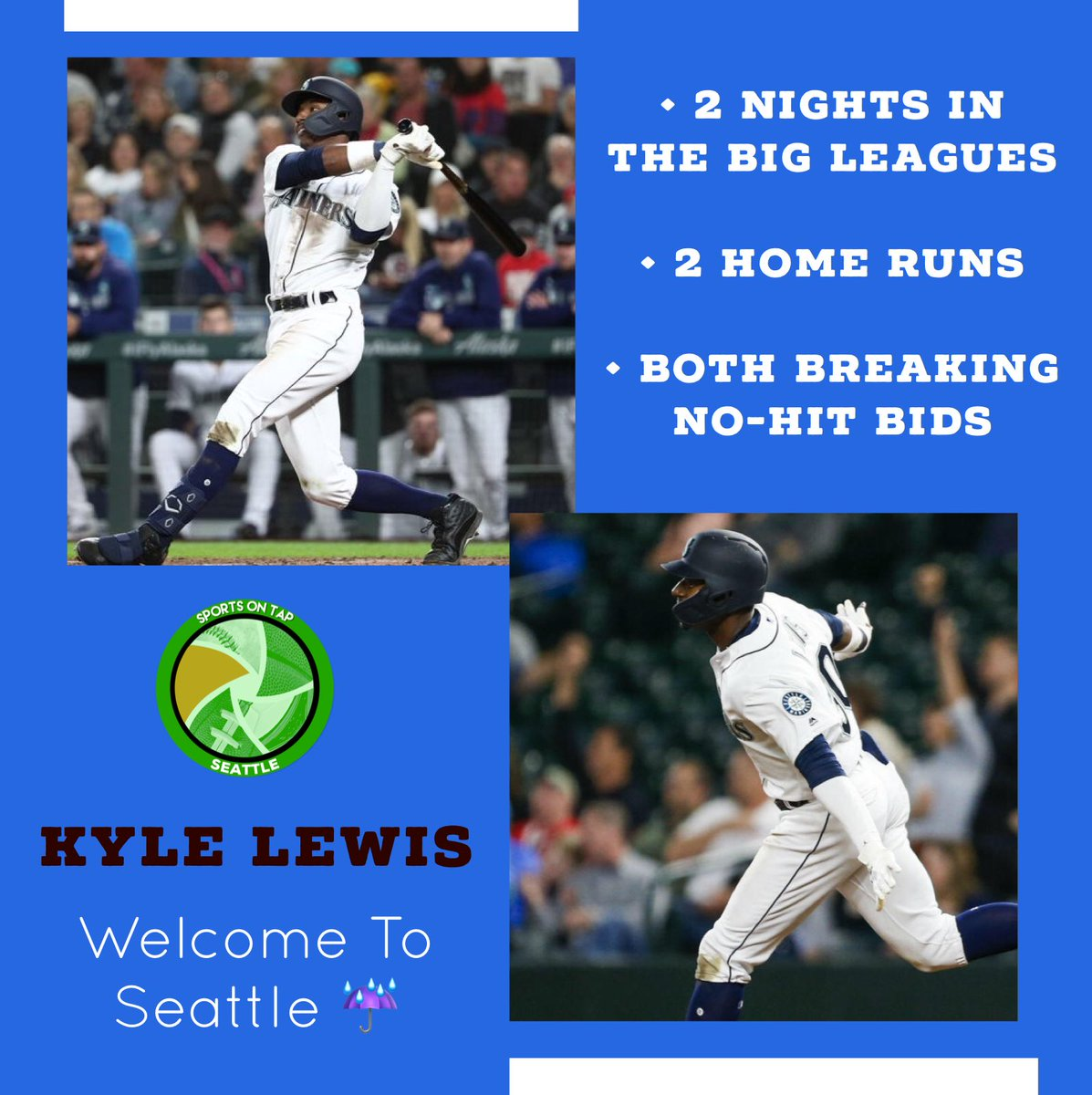 Kyle Lewis does it again for the Seattle Mariners 👏🏽 ☔️