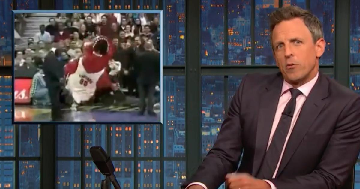 Seth Meyers uses hilarious sports mascot fails to explain Trump's John Bolton mess - Top Tweets Photo