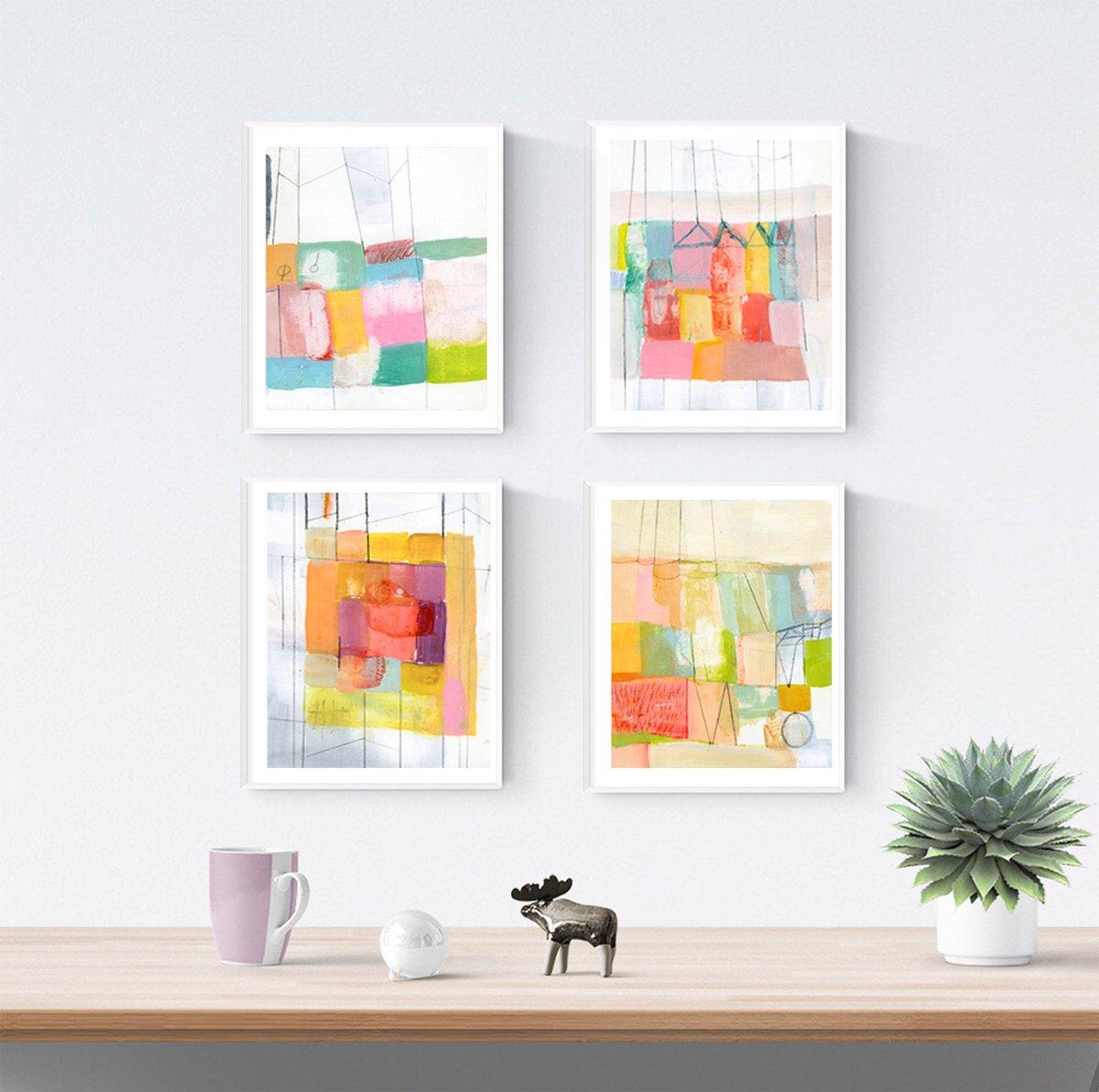 Modern Art Set Of 4