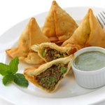Image for the Tweet beginning: The samosa, a fried or