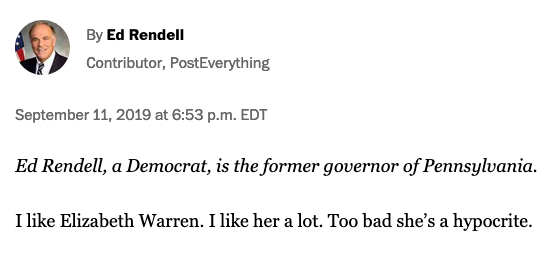 Wait. Is this the same Ed Rendell who lectured me repeatedly on CNN this year that Democrats should avoid attacking each other?