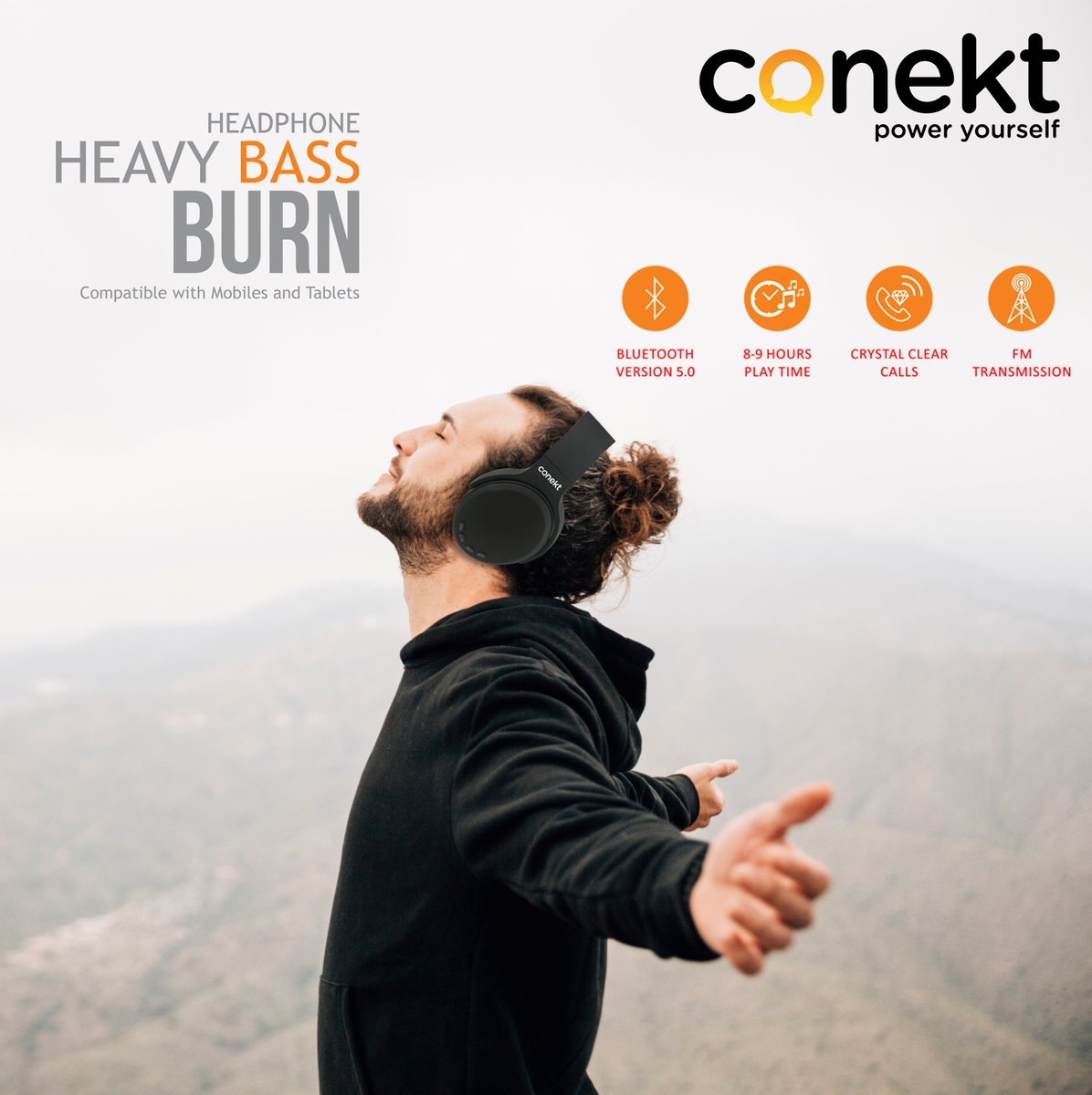 Forgot the #world when be in your #Music with #Heavybass Headphone Burn SeriesExplore Our more Products http://www.conekt.in 👈👈👈For Buying Online https://tinyurl.com/y4qlnwyu 👈👈👈#Rohitsharma #Hitman #CWC19 #Worldcup19 #MobileGadgets #Conekt #Poweryourself