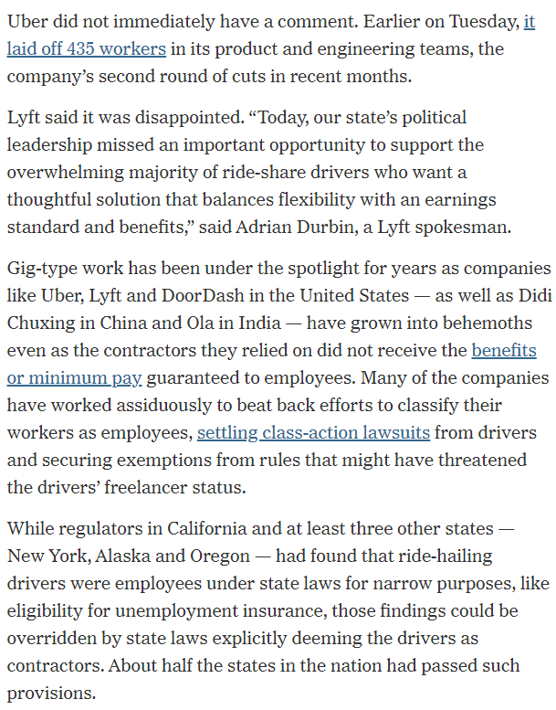 Uber won't reclassify drivers as employees, despite California's AB5 ruling - Top Tweets Photo