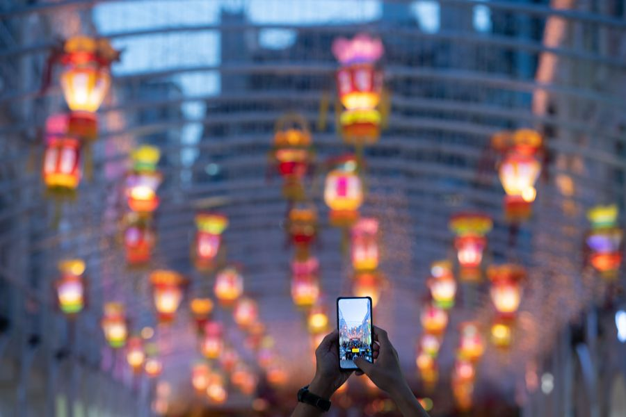 Decorative lanterns set to celebrate upcoming Mid-Autumn Festival in China's Macao http://xhne.ws/NeO6V