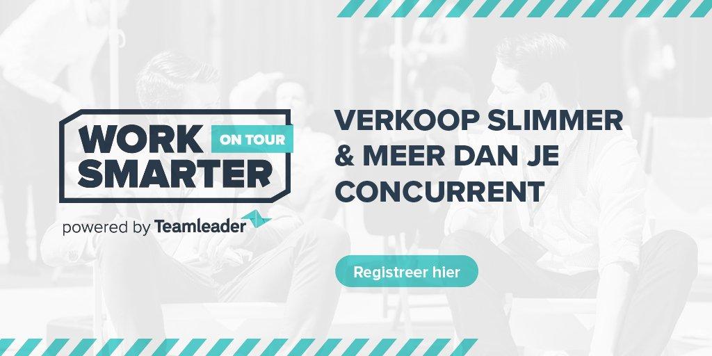 De eerste stop van Work Smarter on Tour is in Brussel bij Transforma. Vergezel ons op 3 oktober voor een namiddag met inspirerende talks over hoe van je verkoopproces een verkoopmachine te maken. Met de promocode BXL-TL-20 ontvang je 20% korting! https://t.co/Aw4t9MdGUg https://t.co/YP12WTP0nF