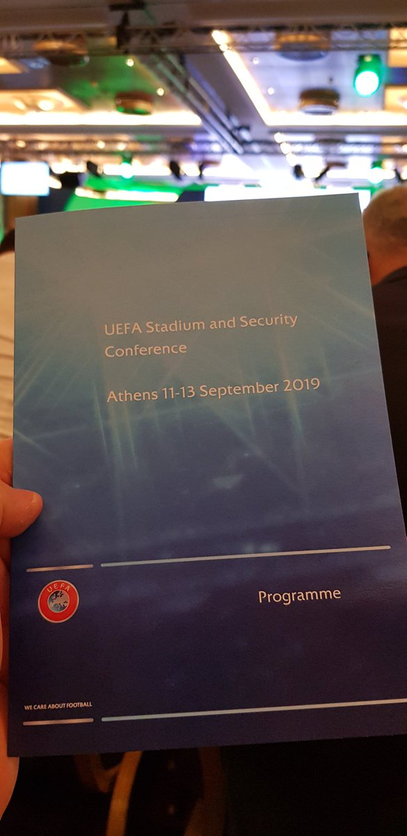 🇬🇷| We are in Athens for the annual @UEFA Stadium & Security conference. #UEFASNS2019