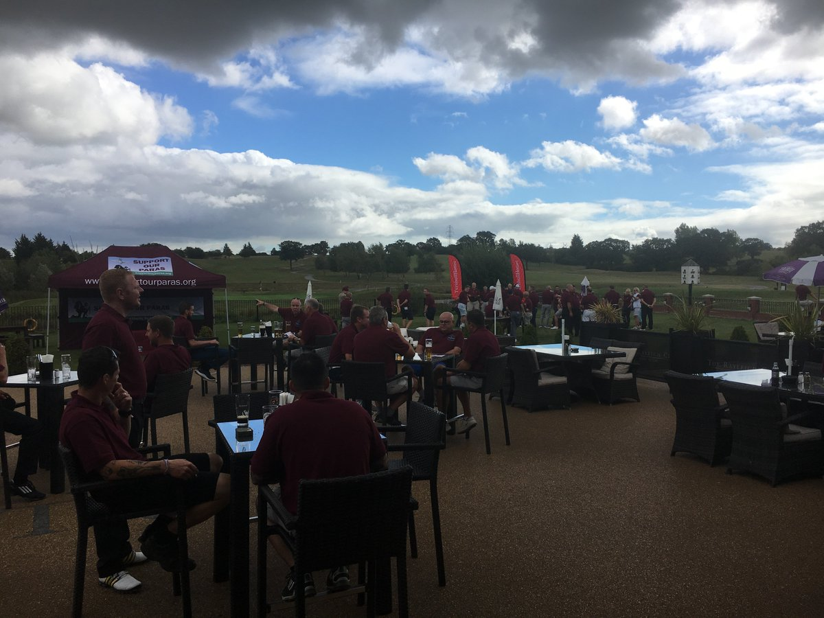 Much maroon on the golf course (or almost at the first tee) at @therayleighclub for the Jamie Saitch Golf Day for @supportourparas Thanks for having us and supporting out soldiers and families.