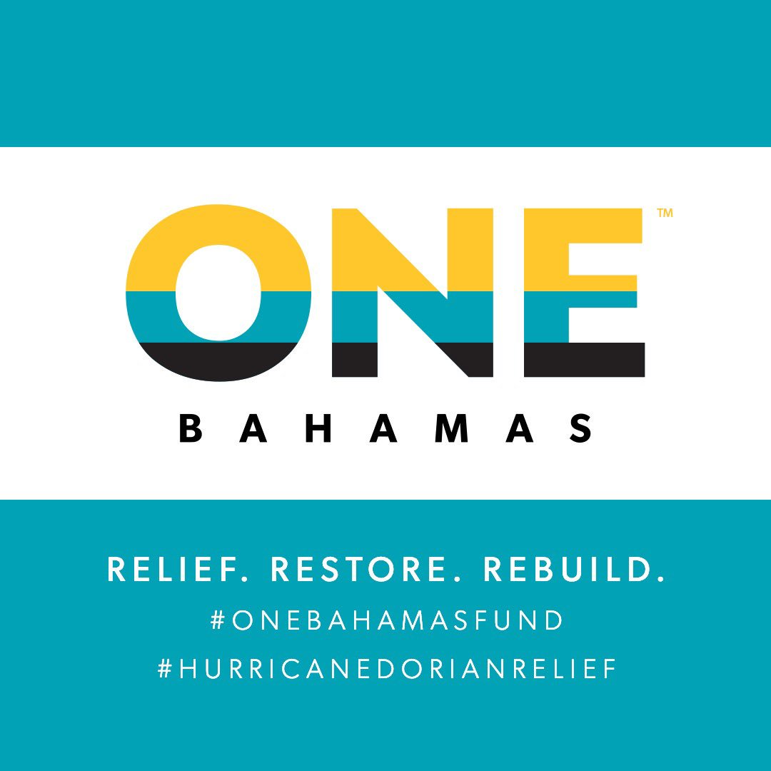 As #HurricaneDorian rescue and relief efforts continue, I'm proud to join in the One Bahamas Fund to restore and rebuild. We're matching dollar for dollar the next $6 million raised. Repost this, spread the word, give if you can. 🙏https://www.onebahamasfund.org/