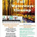Image for the Tweet beginning: Fall Waterways Cleanup kicks off