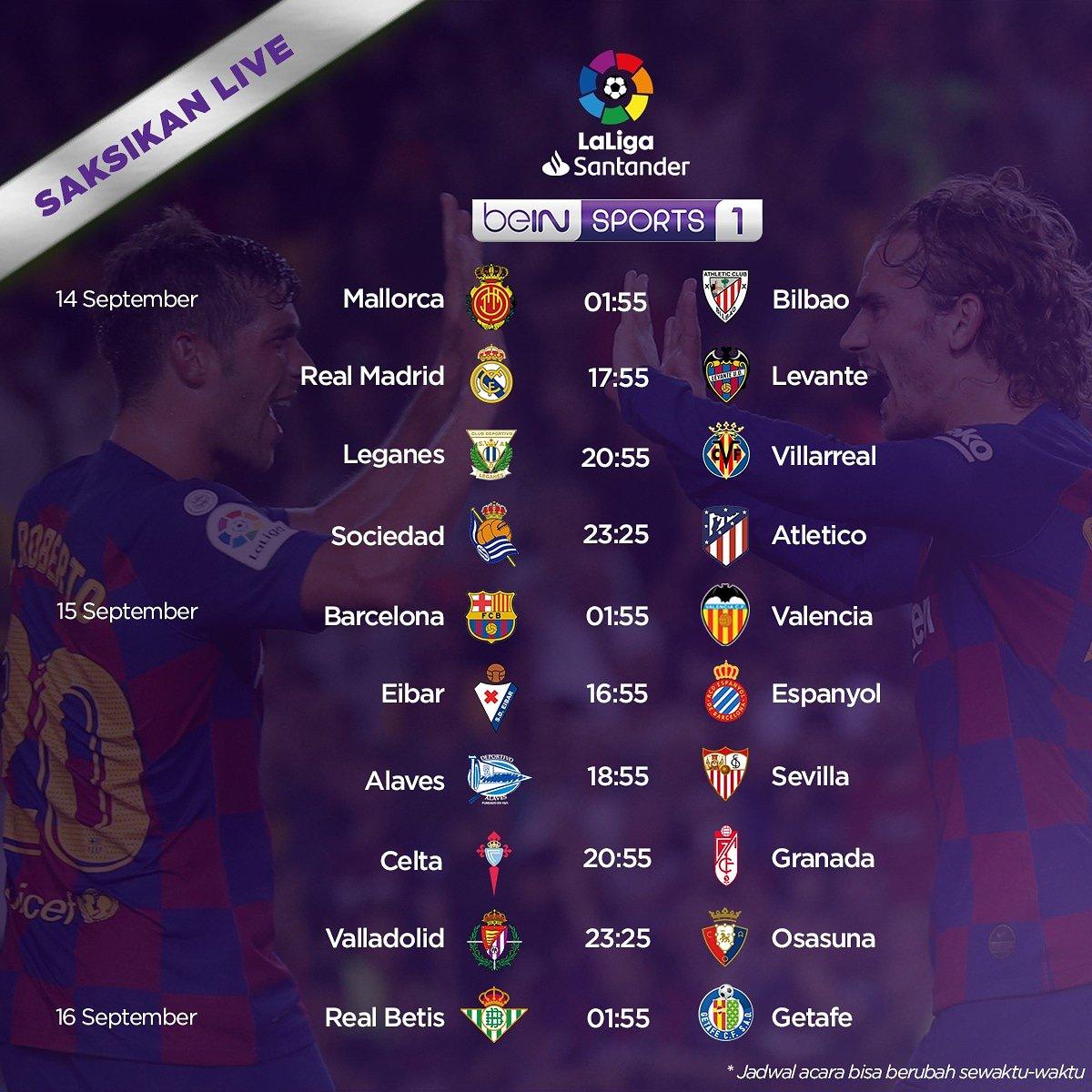 Bein Sports V Twitter La Liga Kembali Hadir Pekan Ini Akankah Madrid Dan Barcelona Mampu Memperbaiki Kesalahan Di Laga Sebelumnya Jangan Lupa Juga Hari Ini Hari Terakhir Promo Hot Deals