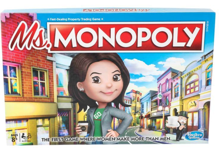 Ms. Monopoly, because Hasbro thinks women need extra help to win at a board game. How insulting. #SAD