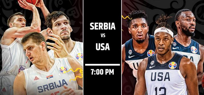 【直播】籃球世界盃2019.9.12 19:00-塞爾維亞男籃VS美國男籃 Serbia VS USA LIVE STREAM