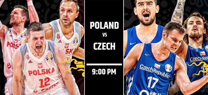 【直播】籃球世界盃2019.9.12 21:00-波蘭男籃VS捷克男籃 Poland VS Czech LIVE STREAM