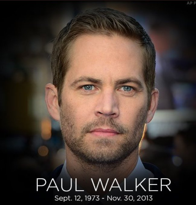 Happy birthday paul walker, he would have been 46 today!  we miss you!