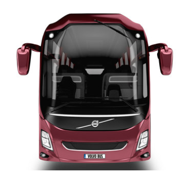 The design of the Volvo 9900 means improved aerodynamics