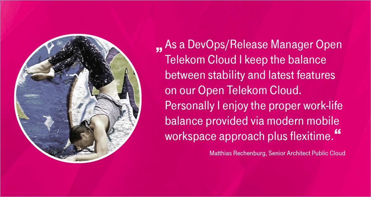 Social Media Post: ++Open Telekom Cloud++ Du hast bereits Berufserfahrung mit...