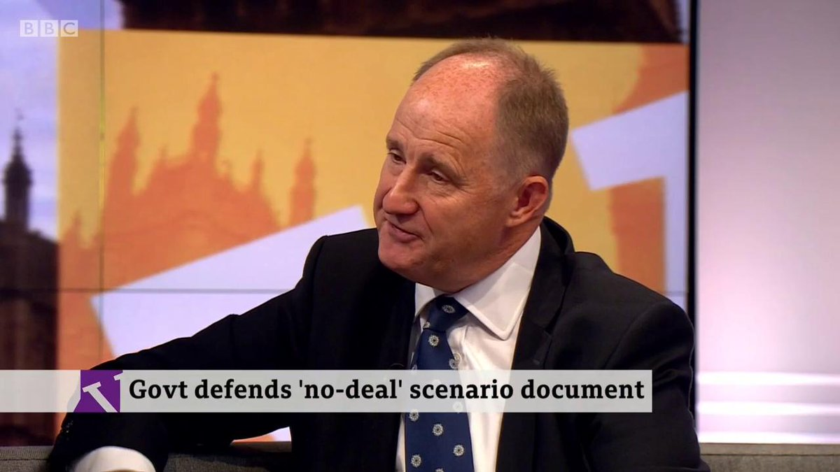 🎙️ You'd accept a no deal Brexit?🗣️ Of course. You can't threaten it and not want to carry it out.🎙️ That would mean, says Yellowhammer, imposing harm...🗣️ The majority of people will not be adversely affected- Tory MP @kevinhollinrakehttp://bbc.in/2mdpIG8