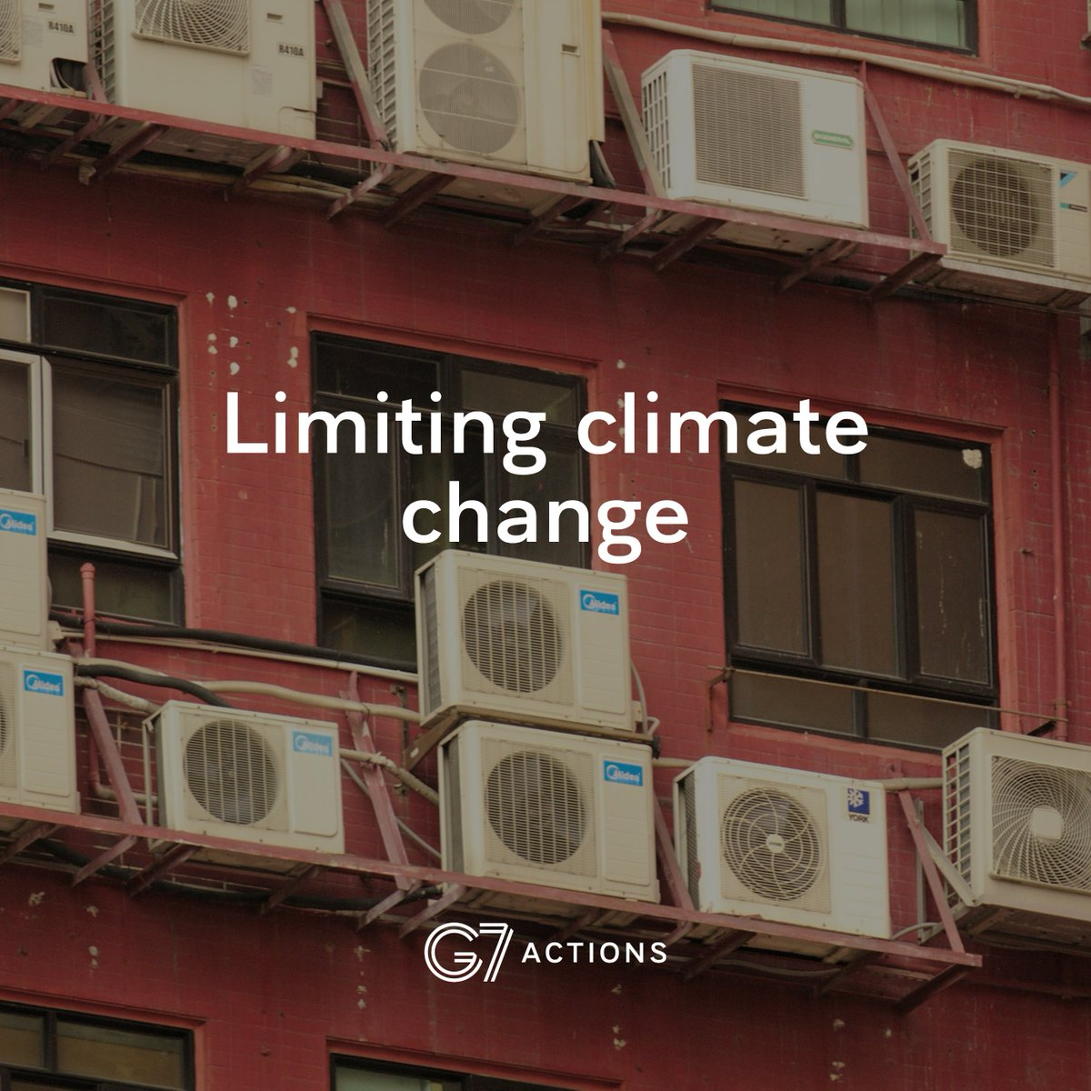 Did you know that the air-conditioners we use discharge greenhouse gas emissions that are 14,800 more potent than CO₂?   Action to reduce their environmental impact was endorsed at #G7Biarritz. <br>http://pic.twitter.com/rSxwYS11BF