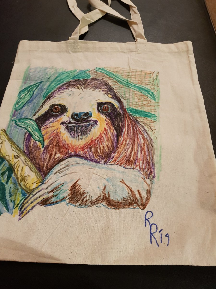 Some new things on my etsy shop, Star Wars, Greenman, Sloth bags and bookmarks. Retweets from friends gratefully received etsy.com/shop/RadicalRh…