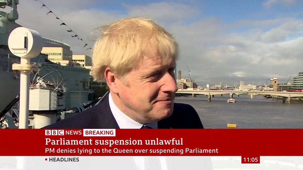 "🎙️ ""Did you lie to the Queen?"" 🗣️ ""Absolutely not"" UK PM Boris Johnson denies misleading the Queen about his reasons for suspending Parliamenthttp://bbc.in/2UYt8dj"