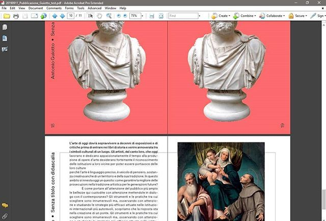 Working at the catalogue of the #SoloShow of @antonioguiotto #SenzaTitoloConDidascalia together with the guys of @multiplostudio. The show deals with the amazing collection of @museibassano and the plaster heads by #AntonioCanova. The project is supporte… https://t.co/9pDuHunqBR