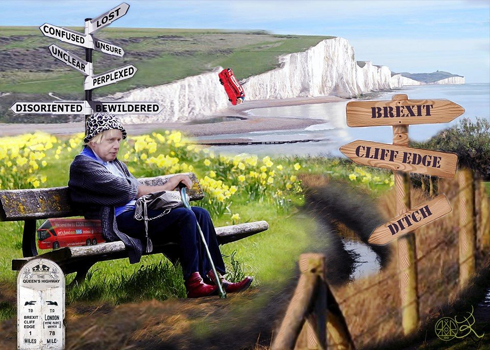"""""""Don't know if I'm Co-ummings or Go-ving, what with Brexit, Proroguing, cliff edges and ditches."""