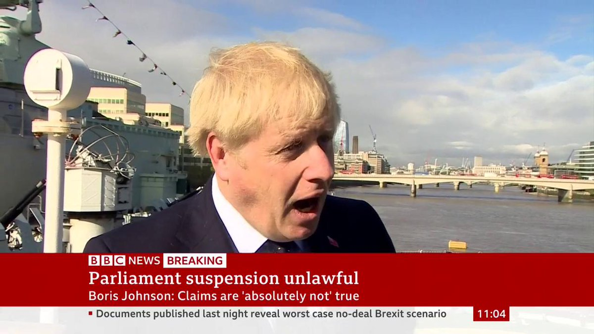 """It's very important that we respect the independence of our judiciary""Boris Johnson says he will not ""quarrel, or criticise the judges"" who ruled that his decision to suspend Parliament was unlawful http://bbc.in/2UYt8dj"
