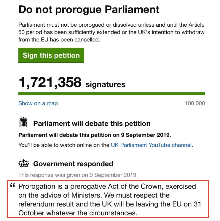I mean this was the response to the petition...so Boris Johnson was lying then, lying now, and lying forever. Sign a witness statement then, journalists should be asking him to provide one