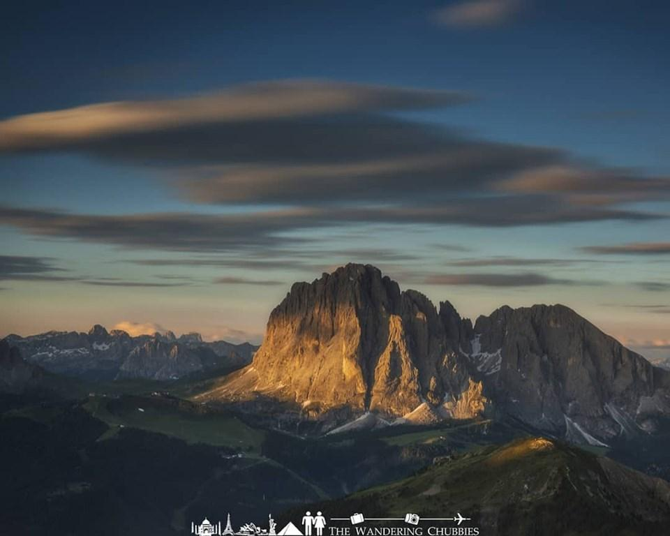 Sunset is amazing in the Dolomites
