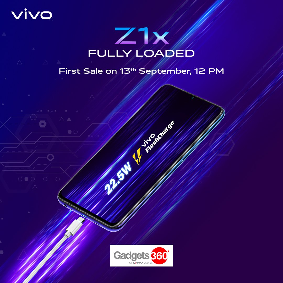[Sponsored] Now you can fuel-up in moments & keep the hustle going endlessly. The all-new #vivoZ1x #FullyLoaded with 22.5W vivo FlashCharge & 4500mAh battery, launched at ₹16,990First Sale on 13th Sep, 12pm on Flipkart http://bit.ly/2LcPR1Z  and http://vivo.com/in