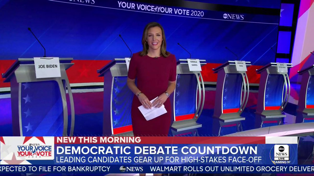 .@marykbruce is on the stage in Texas as we gear up for tonight's #DemDebate. https://gma.abc/2kGQXsc