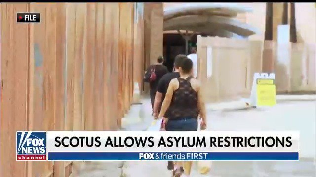 The Supreme Court hands the Trump Administration a huge win by reinstating the partial asylum ban. | @GriffJenkins