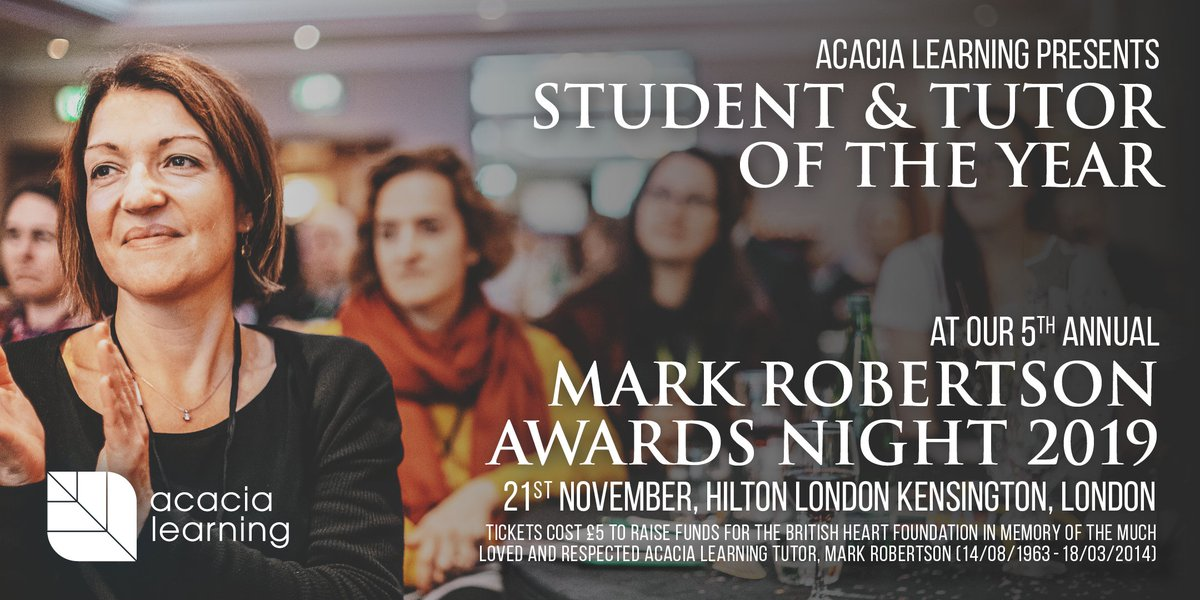 Voting is open! Start campaigning now. Ask your tutors, boss, work colleagues, friends & fellow students to all nominate you for an award to win! @TheBHF @CIPD acacialearning.co.uk/mark-robertson…