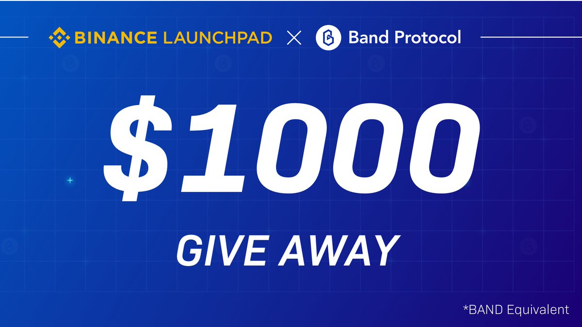 Just over 1 day remains until ticket claim opens for the @BandProtocol $BAND tokens sale on #Binance Launchpad!  Check your eligibility here👇  https://t.co/rIiWpkEgSd  Didn't qualify for ticket claim? Band protocol is giving away $1,000 of BAND tokens 👇