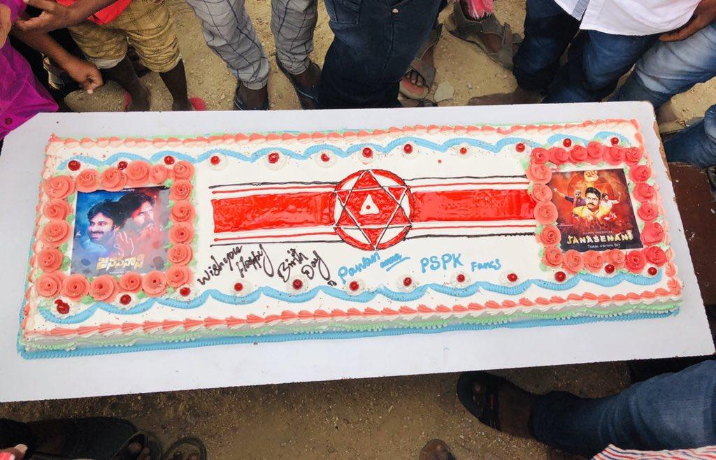 Birthday celebrations  @ Palamaner. #HappyBirthdayPawanKalyan #JANASENANIBdayCelebrations<br>http://pic.twitter.com/G3aTEqfyhF