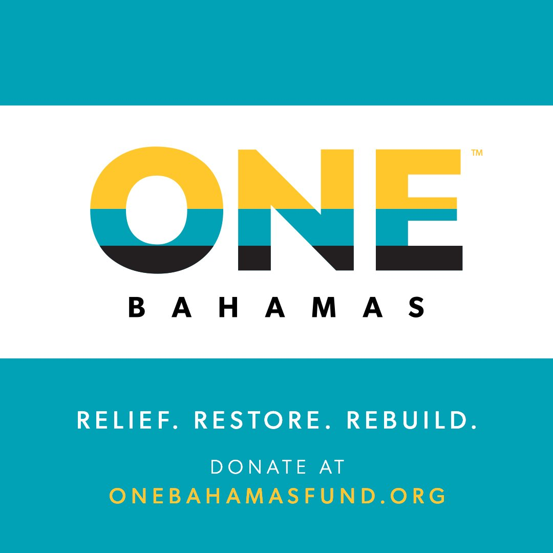 We're proud to announce the establishment of the ONE Bahamas Fund. Together with our fellow founding members, we are collectively pledging $6 million to help Bahamians in rebuilding their communities. For more on this commitment and how to support: http://www.onebahamasfund.org
