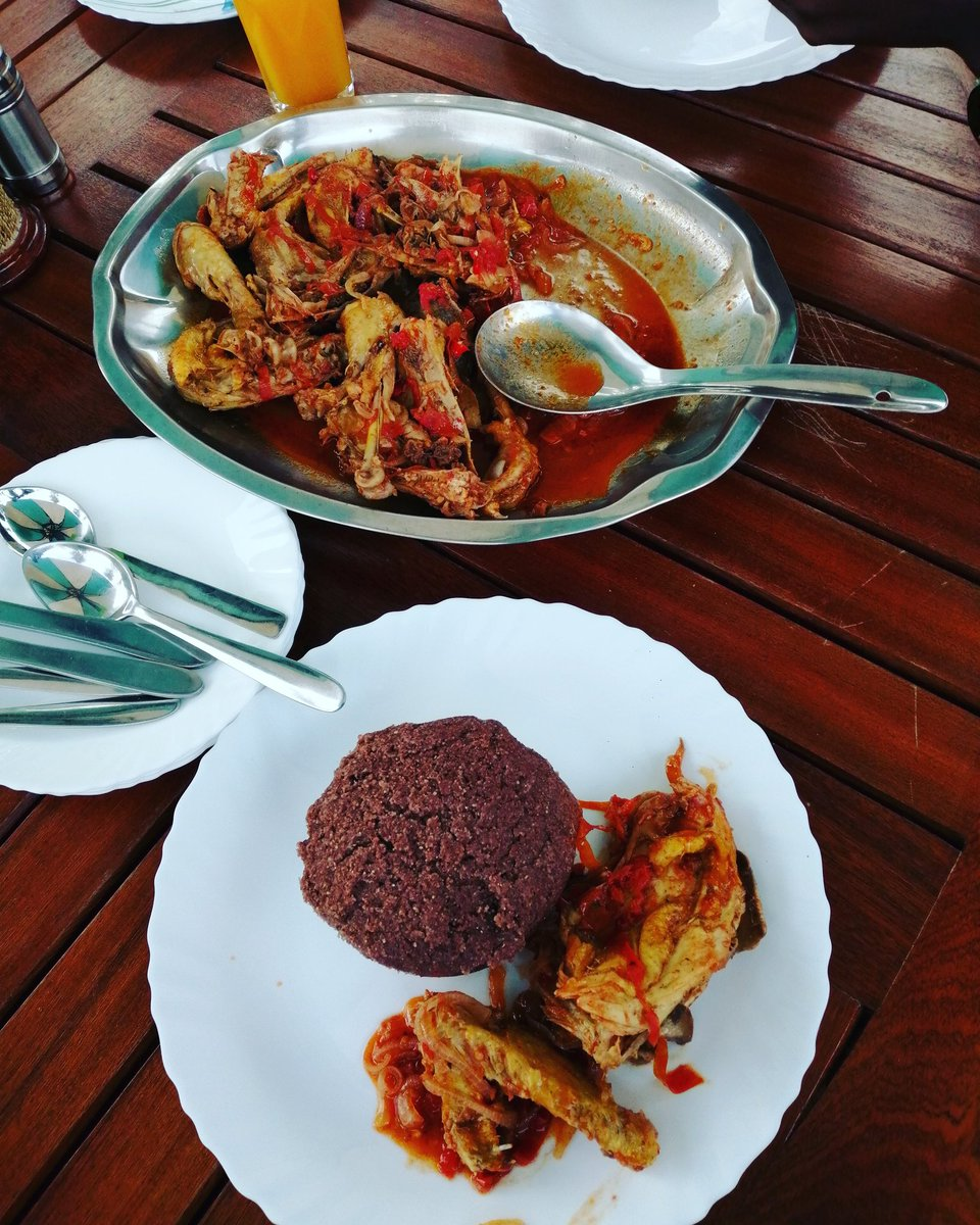 Mko? Brown ugali plus kienyeji chicken still slaps deeper 😋