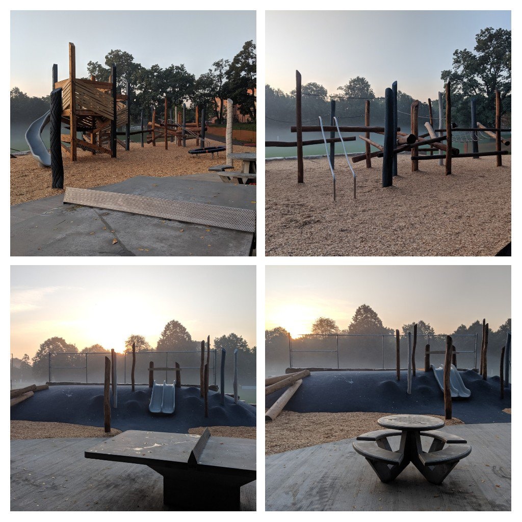 Such a beautiful calm looking photo of this super-fun new #playscape!