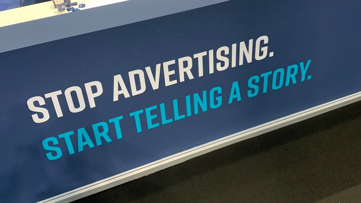 Great advertising IS great storytelling. #dmexco19 <br>http://pic.twitter.com/vDnrplD6Fw