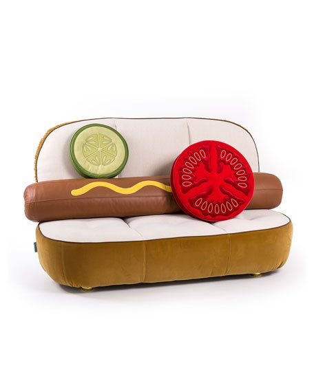 Who in the world is buying this hideous hot dog sofa at Nieman Marcus for $7,100?!